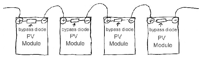 bypass diodes in series pv array