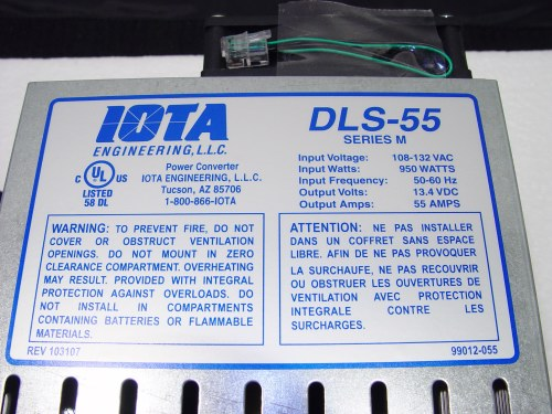 iota dls-55m specifications