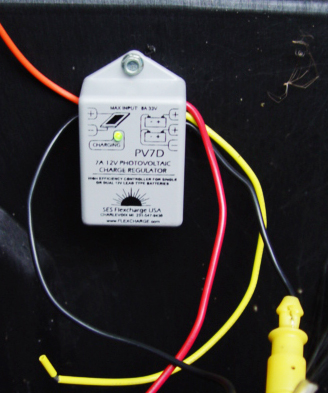 flexcharge pv7d photovoltaic charge controller in one of our systems